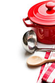Kitchenware on white background — Foto de Stock