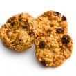 Homemade cookie with oat flakes - Stock Photo