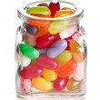 Stock Photo: Jelly beans in glass jar