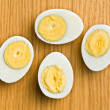 Sliced boiled egg — Stock Photo