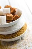Various types of sugar — Stock Photo