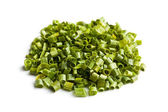 Sliced green chives — Stock Photo
