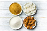 Various types of sugar — Stock Photo