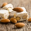 white nougat with almonds  — Stock Photo #26447423