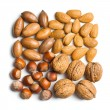 Various unpeeled nuts — Foto de Stock