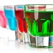 Stock Photo: Various colorful liquors
