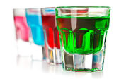 Various colorful liquors — Stock Photo