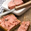 Gourmet pate with bread — Stock Photo
