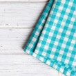 Foto Stock: Checkered napkin
