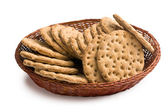 Crispbread in basket — Stock Photo