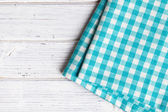Checkered napkin — Stock fotografie