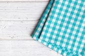 市松模様のナプキン — ストック写真