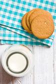 Almond cookies on kitchen table — Stock Photo