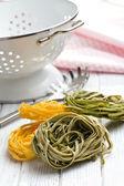 Włoski makaron tagliatelle — Zdjęcie stockowe