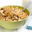 Crunchy muesli in bowl — Stock Photo