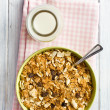 Crunchy muesli in bowl — Stock Photo #31401555