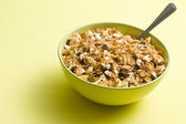 Muesli in ceramic bowl — Stock Photo