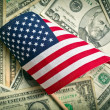 American flag with us dollars — Stock Photo #31888523