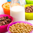 Various cereals and milk — Stock Photo #32806809