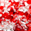 Transparent and red glass stones — Foto Stock