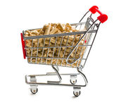 Pellets in shopping cart — Stock Photo