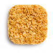 Block of dried chinese noodles — Stock Photo