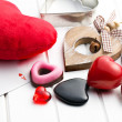 Various valentine hearts — Stock Photo