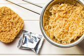 Chinese dried and boiled noodles — Stock Photo