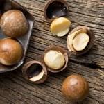 Macadamia nuts on scoop — Stock Photo #37282081