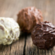 Various chocolate balls — Stock Photo