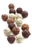 Mix of chocolate truffles — Stock Photo