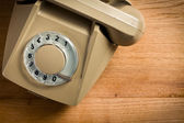 Old beige telephone — Stock Photo