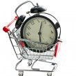 Stock Photo: Alarm clock in shopping cart