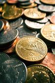 Pièces de monnaie américaine — Photo