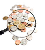 U.S. Coins magnification magnifier — Stock Photo