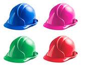 Verschiedene farben der harte hüte — Stockfoto