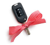 Car key with ribbon — Stock Photo