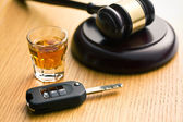 Concept for drink driving — Stock Photo