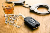 Concept for drink driving — Stok fotoğraf