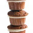 Pile of chocolate muffins — Stock Photo #42193187