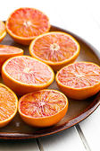 halves of  red oranges  — Stock Photo