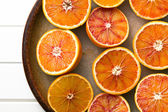 Top view of red oranges — Stock Photo