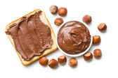 Chocolate spread with bread — Stock Photo