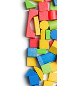 Wooden toy blocks — Stock Photo