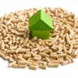 Concept of ecological and economic heating. Wooden pellets. — Stock Photo #44524899