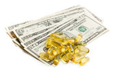 Cod liver oil. Gel capsules — Stock Photo