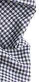 Checkered napkin on white background — Stock Photo