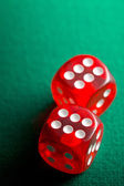 the red casino dice — Stock Photo