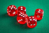 the red casino dice — Stock Photo