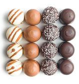 Choklad täckt marshmallows — Stockfoto